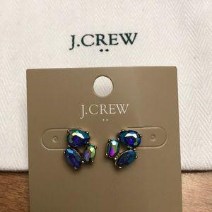 J.CREW Iridescent stone stud earrings